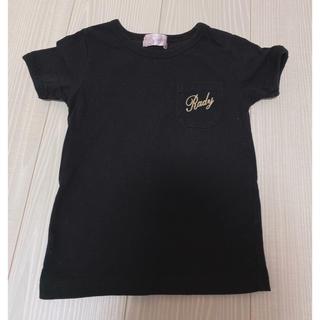 レディー(Rady)のRady ちびRady トップス 半袖 Tシャツ ブラック 100 シャンデリア(Tシャツ/カットソー)
