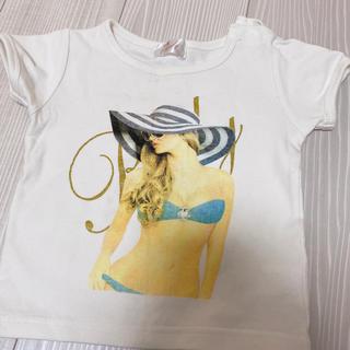 レディー(Rady)のRady ちびRady トップス 半袖 Tシャツ ホワイト 90(Tシャツ/カットソー)
