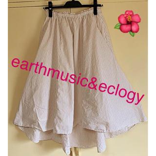 earth music & ecology - フレアースカート ストライプスカート earthmusic&eclogy