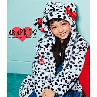 アナップキッズ(ANAP Kids)の未使用 ANAP KIDS リボン耳フード フェイクファー コート ジャケット(コート)