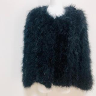 レディー(Rady)のRady フェザー ファー コート 黒 ブラック(毛皮/ファーコート)
