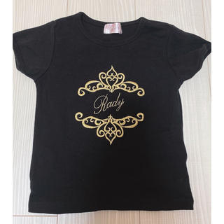 レディー(Rady)のRady ちびRady トップス 半袖 Tシャツ ブラック ゴールド(Tシャツ/カットソー)