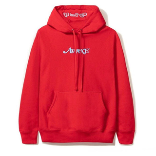 アウェイク(AWAKE)のawake gdc girls don't cry logo hoodie 赤L(パーカー)