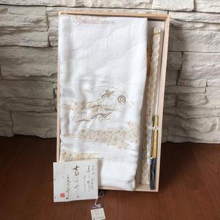 新品1.5万♡上質正絹 留袖用 帯締め帯揚げ 末廣 3点セット(和装小物)