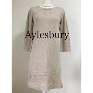 アリスバーリー(Aylesbury)の美品 Aylesbury アリスバーリー 7分袖 ニット ワンピース M(ひざ丈ワンピース)