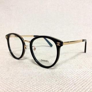 シャネル(CHANEL)のシャネル/CHANEL 眼鏡 メガネ 黒/ゴールド 2132(サングラス/メガネ)