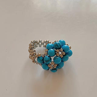 ターコイズブルー ハンドメイド 指輪(リング(指輪))