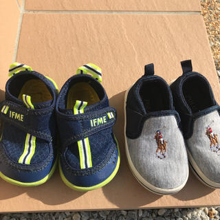 ポロラルフローレン(POLO RALPH LAUREN)のイフミーサンダル13センチ&POLO靴13.5センチ(スニーカー)