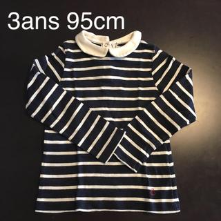 プチバトー(PETIT BATEAU)のプチバトー 長袖ボーダーカットソー3ans95cm(Tシャツ/カットソー)