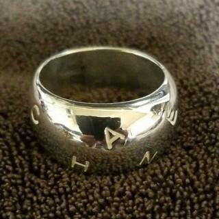 シャネル(CHANEL)のシャネル ロゴ ワイド シルバー925  リング(リング(指輪))