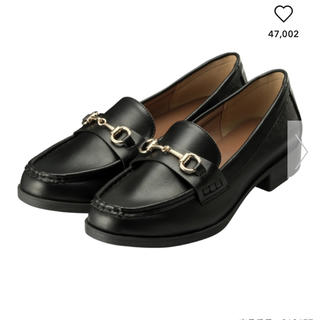 ジーユー(GU)の★即購入OK★ GU ビットローファー 黒 L(ローファー/革靴)