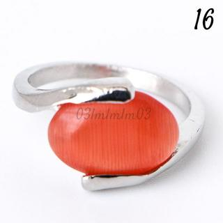 O3 リング 16号 オレンジ オーバル キャッツアイ(リング(指輪))