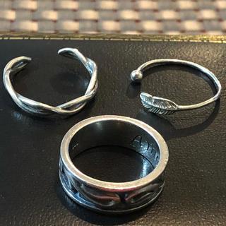 レディース シルバーリング 三個セット(リング(指輪))