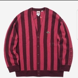 シュプリーム(Supreme)のSupreme×LACOSTE Stripe Cardigan (カーディガン)