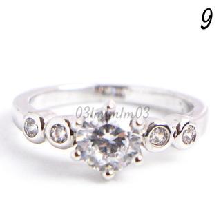 C26 リング 9号 CZ ダイヤモンド ラウンド 5粒(リング(指輪))