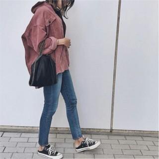 ZARA - ♡ZARA XS ザラ ポケット付きコーデュロイ付きシャツジャケット