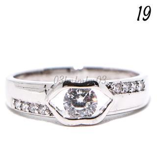 C27 リング 19号 CZ ダイヤモンド リップ 個性的 大きいサイズ(リング(指輪))