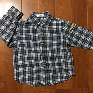 ミキハウス(mikihouse)のミキハウス 長袖 100 襟シャツ チェックシャツ 秋冬 男の子 日本製(ブラウス)