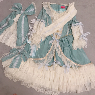 BABY,THE STARS SHINE BRIGHT - La robe vert clair ワンピース