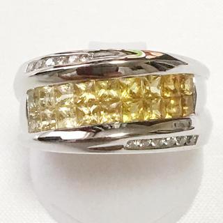 K18WG ダイヤ サファイア ミステリー リング 指輪 豪華 綺麗 贈り物(リング(指輪))