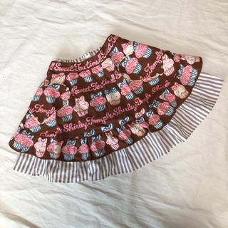 シャーリーテンプル(Shirley Temple)のシャーリーテンプル カップケーキ エプロンスカート 110 美品(スカート)
