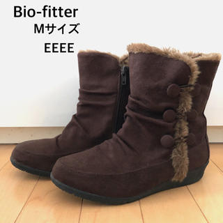 美品*Bio-fitter ブーツ Mサイズ EEEE 甲高幅広 外反母趾(ブーツ)