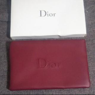 ディオール(Dior)のディオール ポーチ 深みレッド 赤 ボルドー(ポーチ)
