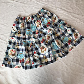 Shirley Temple - シャーリーテンプル ティータイム 膝丈 スカート 160 美品