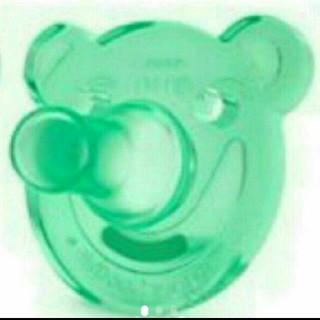 フィリップス(PHILIPS)のフィリップスおしゃぶり    くまちゃん♣グリーン1個です(哺乳ビン用乳首)