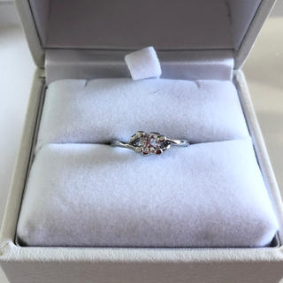 指輪 レディース キュービックジルコニア ホワイト 7号-2(リング(指輪))