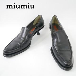 ミュウミュウ(miumiu)のmiumiu ミュウミュウ 39サイズ 黒 イタリア製 シューズ(ハイヒール/パンプス)