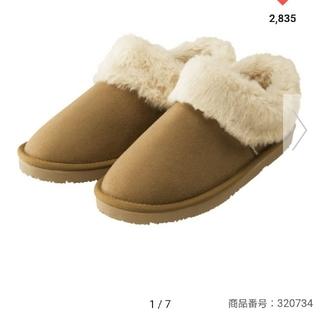 ジーユー(GU)のGU ムートンタッチショートブーツ XL 新品 ユニクロ ベイフロー(ブーツ)
