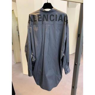 Balenciaga - 【BALENCIAGA】19AW バレンシアガ ロゴ バックストライプシャツ