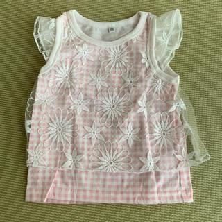女の子 可愛いレース Tシャツ 100cm(Tシャツ/カットソー)