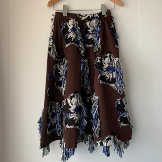 UNITED ARROWS - 価格57,240円 アキラナカ フラワージャガードスカート。