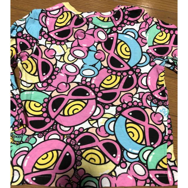 HYSTERIC MINI(ヒステリックミニ)の売り切れ⭐︎ヒステリックミニ  テディ ロンT  90 ヒスミニ   キッズ/ベビー/マタニティのキッズ服 女の子用(90cm~)(Tシャツ/カットソー)の商品写真