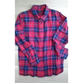 ユニクロ(UNIQLO)のフランネルチェックシャツ(シャツ/ブラウス(長袖/七分))