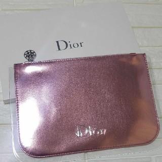 ディオール(Dior)の『新品』 Dior    ピンクフラット ポーチ(ポーチ)