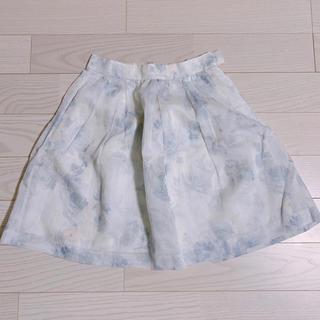 マーキュリーデュオ(MERCURYDUO)の花柄 スカート(ミニスカート)