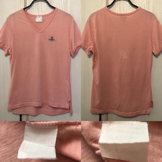 Vivienne Westwood(ヴィヴィアンウエストウッド)の☆早い者勝ち☆ヴィヴィアンウエストウッド オーブ刺繍 Tシャツ レディースのトップス(Tシャツ(半袖/袖なし))の商品写真