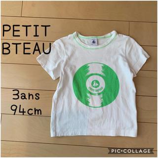 プチバトー(PETIT BATEAU)のプチバトー PETIT BATEAU★レコードプリント 半袖Tシャツ 94cm(Tシャツ/カットソー)