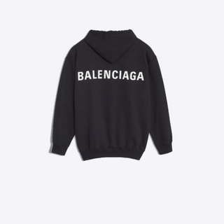 バレンシアガ(Balenciaga)の【BALENCIAGA】LOGO HOODIE SWEATER IN BLACK(パーカー)