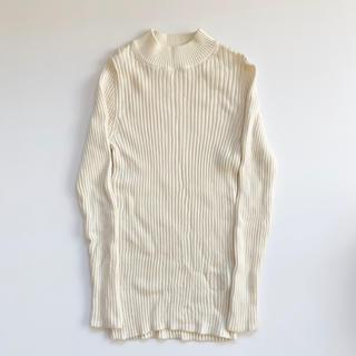 ムジルシリョウヒン(MUJI (無印良品))の無印良品 洗えるワイドリブ編み ハイネックセーター(ニット/セーター)