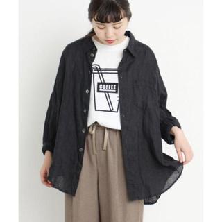 I am I - 新品 タグ付き I AM I 日本製 リネン100% ビッグシャツ スミクロ