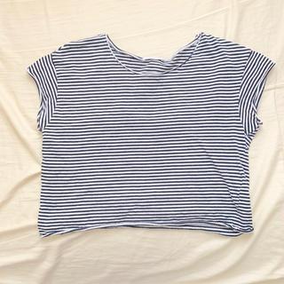 ザラ(ZARA)のZARA クロップドTシャツ ボーダー S(Tシャツ(半袖/袖なし))