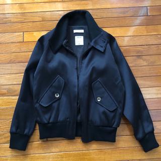 ドゥーズィエムクラス(DEUXIEME CLASSE)のMADISONBLUE ジャケット ブルゾン ブラック silk cotton(ブルゾン)
