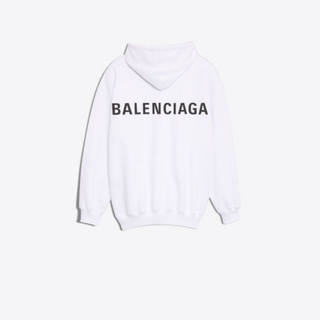バレンシアガ(Balenciaga)の【BALENCIAGA】LOGO HOODIE SWEATER IN WHITE(パーカー)