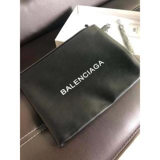 バレンシアガ(Balenciaga)のバレンシアガ レザー クラッチバッグ ブラック(セカンドバッグ/クラッチバッグ)