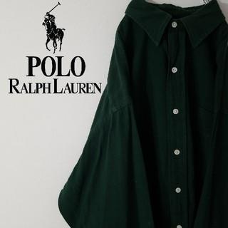 ラルフローレン(Ralph Lauren)の古着 90S ラルフローレン BD シャツ ポケットシャツ グリーンカラー(シャツ)