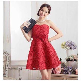 レースドレス(ミディアムドレス)